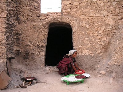 Berberka pečící chlebovou placku