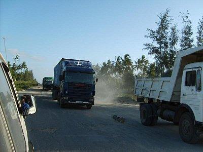 Silná kamionová doprava