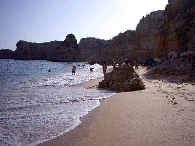 Pláž v Algarve
