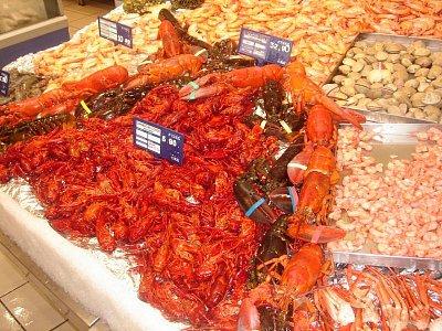 Mořské plody v supermarketu (nahrál: Jarda112)