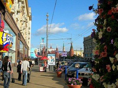 Pohled na Tverskou (nahrál: admin)