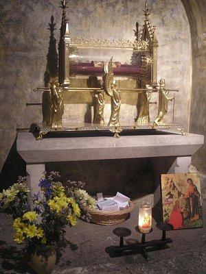 Chrám sv. Máří Magdalény - údajně žebro sv. Máří Magdalény (nahrál: Lucie Tichá)