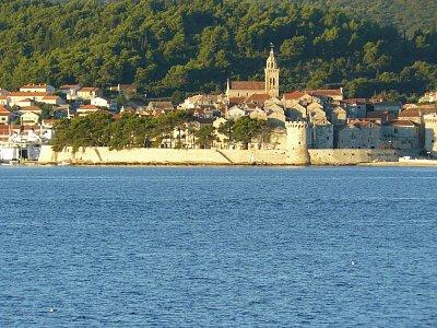 Korcula - Pohled na staré město Korčula ville Perna, info@apartments-peljesac.com, 00385915350569 (nahrál: Ivanovic Alen )