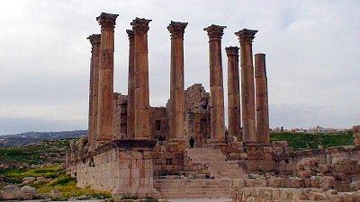 Jerash - chrám bohyně Artemis (nahrál: petras21)