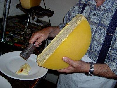 Raclette - příprava sýru na Raclette (nahrál: Čestmír Kašpar)