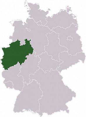 Severní Porýní - Vestfálsko - Severní Porýní - Vestfálsko Zdroj: wikipedia.org (nahrál: admin)