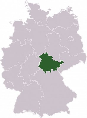 Durynsko - Durynsko  Zdroj: wikipedia.org  (nahrál: admin)