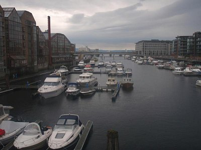Trondheim 2009 - pohled z jednoho z mostů ve městě