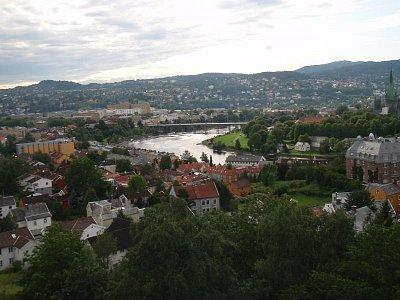 Trondheim - výhled z pevnosti