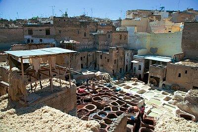 barvírna ve Fezu v Maroku, foto www.martinasvobodova.cz (nahrál: Martina Svobodova)